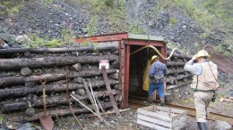 Men walk into an  adit at the Wellgreen PGM-nickel-copper project in the Yukon. Credit: Prophecy Platinum