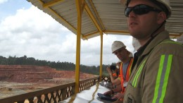 Mining personnel at Iamgold's Rosebel mine in 2009. Photo by Alisha Hiyate.