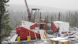 A drill rig at Champion Iron Mines' Fire Lake North iron-ore project in northeastern Quebec. Credit: Champion Iron Mines
