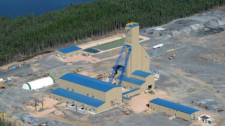 The headframe at Hudbay Minerals' Lalor gold-zinc-copper mine in Manitoba. Credit: Hudbay Minerals.