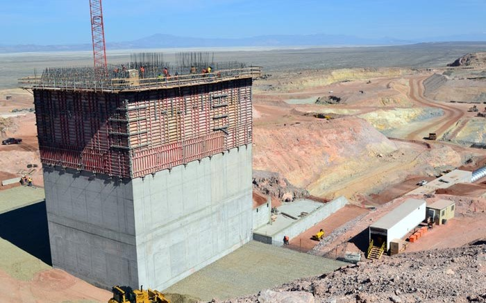 Construction at Allied Nevada's Hycroft mine. Credit: Allied Nevada