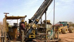 Drillers at Orezone Gold's Bombor gold project in Burkina Faso. Credit: Orezone Gold