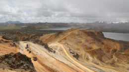 The Susan and Diana pits at Mineral IRL's Corihuarmi gold mine in the Andes of central Peru. Credit: Minera IRL