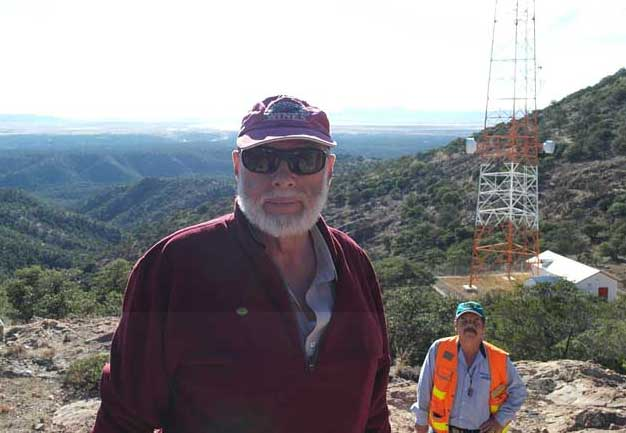 Thomas Robyn, Sierra Metals' vice-president of exploration, at the Cusi silver-gold project in Mexico.  Photo by Anthony Vaccaro.