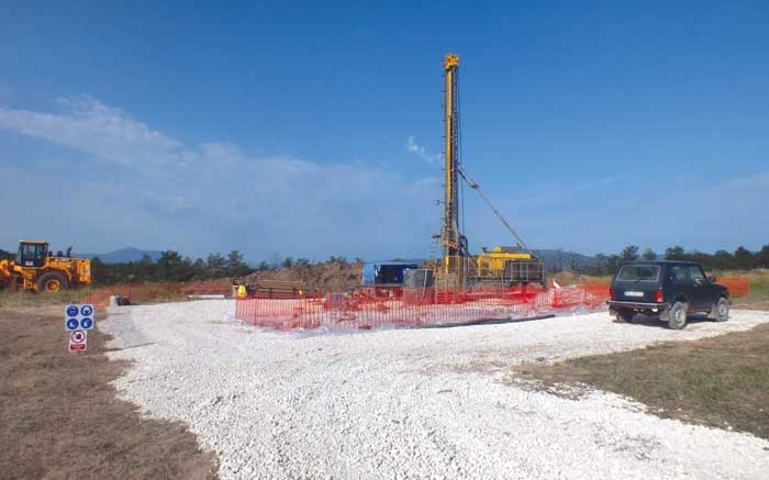 A drill site at Reservoir Minerals' flagship Timok copper-gold property in eastern Serbia, which has seen more than 45,000 metres of drilling. Credit: Reservoir Minerals