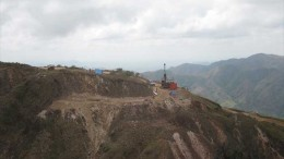 A drill site at Pershimco Resources' Cerro Quema gold project in southwestern Panama. Credit: Pershimco Resources