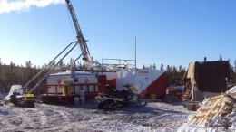 A drill at the Mann Lake uranium project - owned by Cameco, International Enexco and Areva - in Saskatchewan. Credit: Cameco