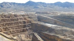 Molycorp's Mountain Pass rare earths project in California. Photo by Trish Saywell .