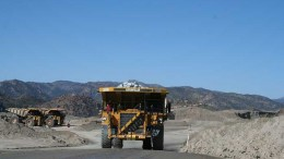 A haul truck at Capstone Mining's Pinto Valley copper-moly-silver mine in Arizona. Credit: Capstone Mining