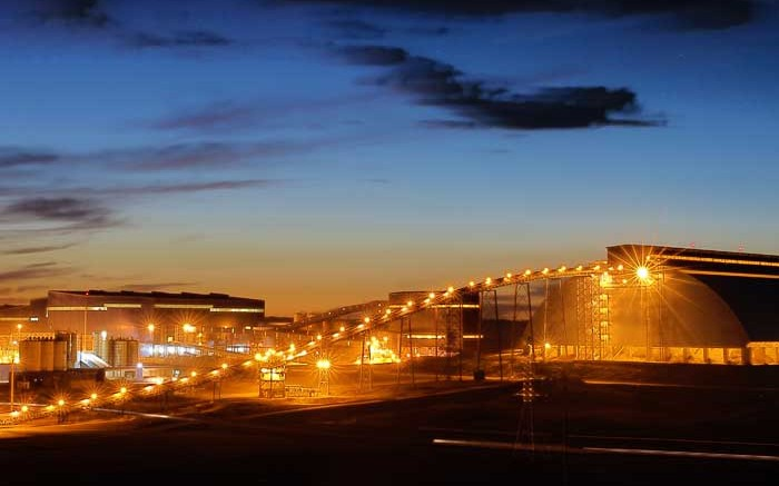 Processing facilities at Turquoise Hill Resources' Oyu Tolgoi copper-gold mine in Mongolia, 80 km north of the Mongolia-China border. Credit: Turquoise Hill Resources