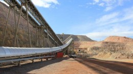 Conveyors at Allied Nevada Gold's Hycroft gold mine, 86 km west of Winnemucca, Nevada. Credit: Allied Nevada Gold