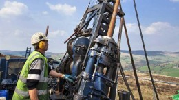 A driller at Dalradian Resources' Curraghinalt gold project in Northern Ireland. Credit: Dalradian Resources