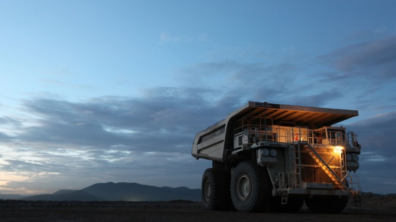 A mining truck at Goldcorp's Penasquito mine in Mexico. Credit: Goldcorp