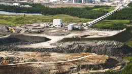 An aerial view of the Canadian Malartic project in Quebec. Credit: Osisko Mining
