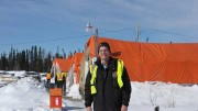 Mega Precious Metals president and CEO Glen Kuntz at the Monument Bay gold project in northeast Manitoba. Photo by Anthony Vaccaro.
