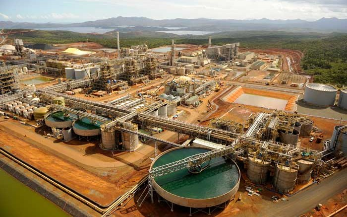Vale's Goro nickel mine on the island of New Caledonia, a special collectivity of France, in the southwest Pacific Ocean. Credit: Vale