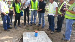Engineers at the Mabilo copper-gold-silver project on Luzon Island in the Philippines. Credit: RTG Mining