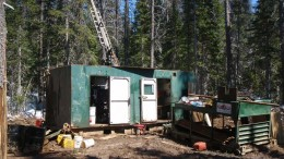 A drill rig at Gold Reach Resources' Ootsa copper-gold project in northwest British Columbia. Credit: Gold Reach Resources