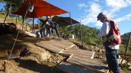 Workers at a drill site at GoldQuest Mining's Romero gold-copper project in the Dominican Republic. Credit: Gold Quest Mining