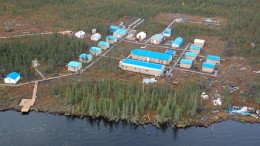 An aerial view of KWG Resources' mining camp at the Big Daddy project, located in the McFaulds Lake area, in the Ring of Fire. Credit: KWG Resources