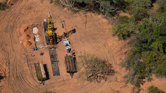 A drill site at Platinum Group Metals' Waterberg PGM project in South Africa. Credit: Platinum Group Metals