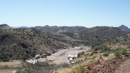 The mine yard at Santa Fe Gold's past-producing Summit gold-silver project in New Mexico. Credit: Santa Fe Gold