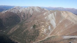 An aerial view of the Tiger gold deposit at Atac Resources' Rackla gold project, 55 km northeast of Keno City in central Yukon. Credit: Atac Resources