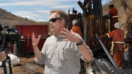 Newstrike Capital CEO Richard Whittall at the Ana Paula gold project in Guerrero state, Mexico. Credit: Newstrike Capital