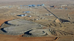 Turquoise Hill Resources' Oyu Tolgoi gold-copper mine in Mongolia, 80 km north of the Mongolia-China border. Credit: Turquoise Hill Resources