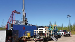 A drill rig at the Tamarack North nickel-coppe-platinum project in Minnesota. Credit: Talon Metals