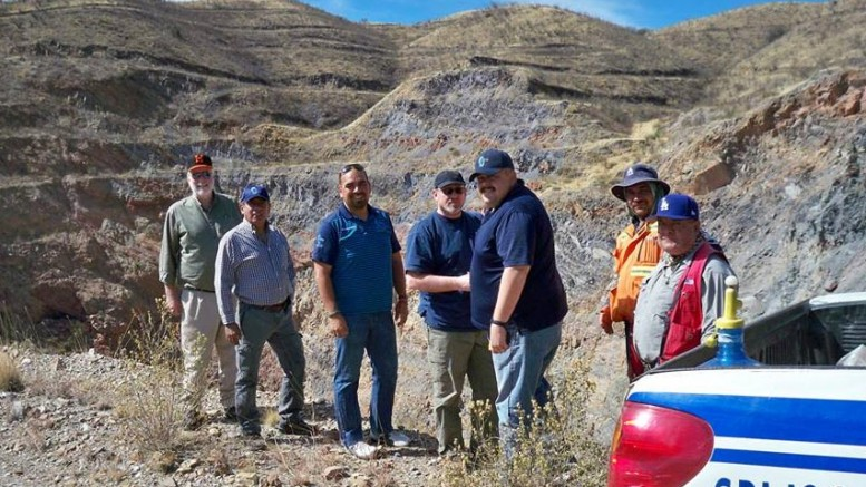 GoGold Resources' geological team in 2014 at the Santa Gertrudis project in Mexico. Credit: GoGold Resources.