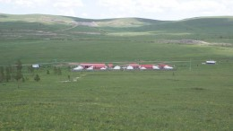 A 2008 photo of the camp at the Dornod uranium project in northwestern Mongolia.