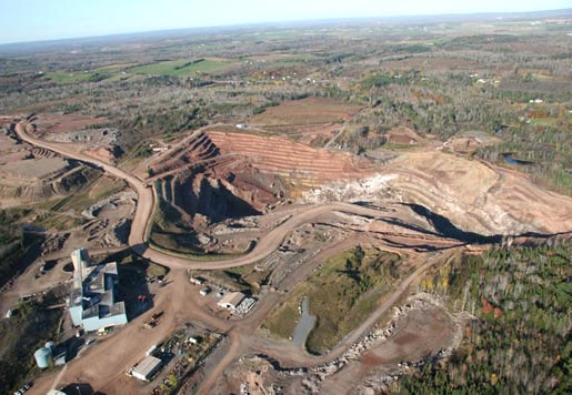 An aerial view of Selwyn Resources' ScoZinc mine in Nova Scotia. Credit: Selwyn Resources