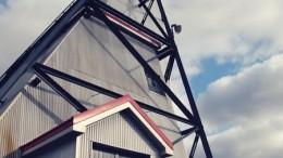 The historic headframe at Premier Gold's Hardrock project, 250 km northeast of Thunder Bay, Ontario. Credit: Premier Gold Mines
