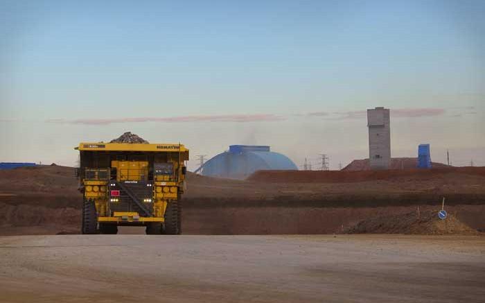 A loaded haul truck at Turquoise Hill Resources' Oyu Tolgoi copper-gold mine in Mongolia. Credit: Turquoise Hill Resources