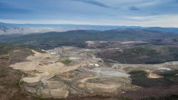 An aerial view of Capstone Mining's Minto copper-gold-silver mine in the Yukon, 240 km north of Whitehorse. Credit: Capstone Mining