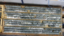 Drill core from Balmoral Resources' Grasset nickel-copper-platinum group metals (PGM) project in Quebec. Credit: Balmoral Resources