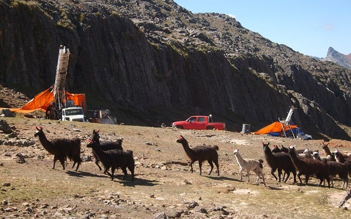 Drill rigs at the Malku Khota silver-indium in Bolivia before the project was expropriated by the Bolivian government in August 2012. TriMetals Mining is pursuing compensation via international arbitration. Credit: TriMetals Mining