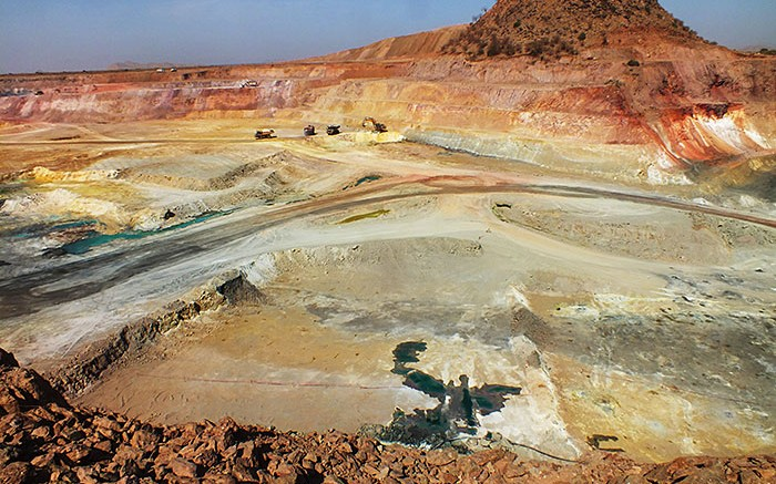 The central pit at Nevsun Resources' Bisha copper-gold mine in Eritrea, 150 km west of Asmara. Credit: Nevsun ResourcesNevsun Resources