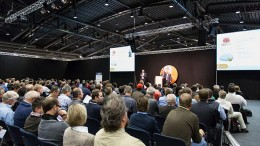 Zimtu Capital president Dave Hodge addresses attendees at the International Precious Metals and Commodities Show in Munich, Germany, in November.  Credit: ZTP