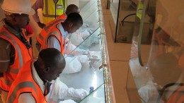 Diamond sorters at Lucara Diamond's Karowe mine in Botswana. Credit:  Lucara Diamond