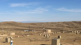 A well field at Uranerz Energy's Nichols Ranch in-situ recovery uranium mine in Wyoming. Credit: Uranerz Energy