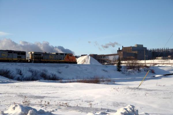 A winter shot of the Iron Ore Company of Canada (IOC) railway. Credit: Iron Ore Company of Canada