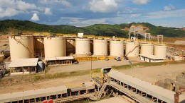 B2Gold's processing plant at the La Libertad gold mine in Nicaragua. Credit: B2Gold