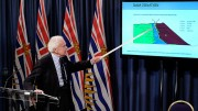 Panel chair Norbert Morgenstern presents findings from a B.C. government-ordered investigation into the tailings dam collapse last August at Imperial Metals' Mount Polley gold-copper mine near Likely, B.C. Credit: Province of British Columbia