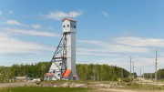 A historic headframe at Premier Gold Mines' Hardrock gold project in Ontario. Centerra Gold can earn a 50% stake in the project by investing up to $300 million. Credit: Premier Gold Mines