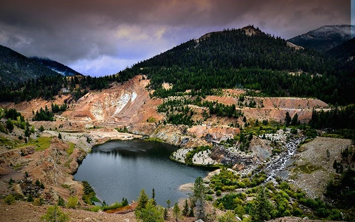 The historic Yellow Pine pit at Midas Gold's Stibnite gold project in central Idaho. Credit: Midas Gold.