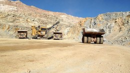 In the pit at Allied Nevada Gold's Hycroft gold-silver mine near Winnemucca, Nevada. Credit: Allied Nevada Gold
