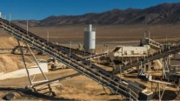 Processing facilities at Pershing Gold's past-producing Relief Canyon gold project in Nevada, 180 km northeast of Reno. Credit: Pershing Gold