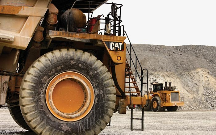 Equipment in the pit at Kinross Gold's Tasiast gold mine in Mauritania. Credit:  Kinross Gold